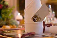 Atmosferyczny gość restauracji stołu położenie Obrazy Royalty Free