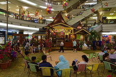 Atmoshphere of Hari Raya Puasa (Eid al-Fitr) in shopping mall in Malaysia during the festive period Stock Photos