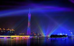 Atmosphäre der 16. Spiele-Dekoration Stockbild