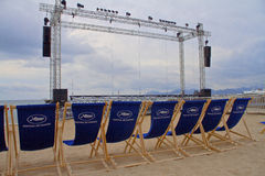 Atmosphären-Cannes-Festivals Stockfoto