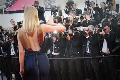 Atmosphären-Cannes-Film-Festival Lizenzfreie Stockfotos