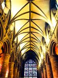 Atmosphärische Kathedralenhalle Stockfotos