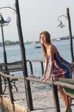 Atmosphärisches Foto am Pier Lizenzfreies Stockbild