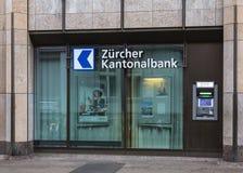 Atmosphère de la banque cantonale de Zurich Images stock
