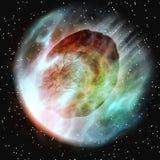 Atmosphère terrestre entrant en forme d'étoile illustration libre de droits