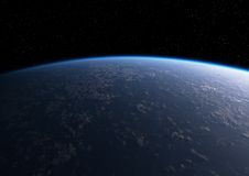 Atmosphere. The planet Earth from orbit stock illustration