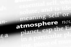 Atmosphere. Word in a dictionary.  concept Royalty Free Stock Photo