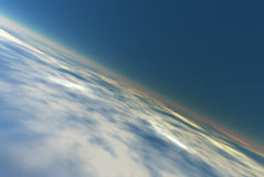 Atmosphere background. Atmosphere of the Planet Earth (computer rendered Stock Photography