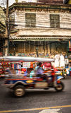 Atmosphere of chaos in the major Asian city of Bangkok, Thailand royalty free stock photo