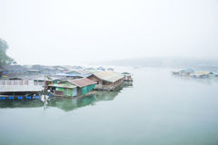 Atmosphere of the city along the lake. Royalty Free Stock Photo