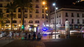 Atmosphere of Explanada main street in Alicante at night, Spain Royalty Free Stock Photo