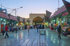 The atmosphere of Grand Bazaar, Kerman, Iran stock photos
