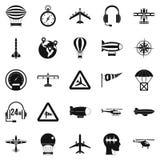 Atmosphere icons set, simple style. Atmosphere icons set. Simple set of 25 atmosphere vector icons for web isolated on white background Stock Image