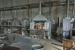Atmosphere inside of famous Murano old glass factory. Stock Photography