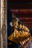 Buddha statues inside the temple of Wat Pho Bangkok Thailand royalty free stock photos
