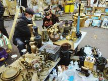 Atmosphere of Lviv. Secondhand market festival in Ukraine. Our culture Royalty Free Stock Image