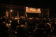 Atmosphere mass destruction Setia Hati  Teratai on Pasar Nusukan, Solo city Stock Photos