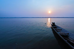 The atmosphere on the morning at Khong river Royalty Free Stock Photography