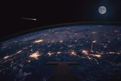Atmosphere, Outer Space, Earth, Planet stock image