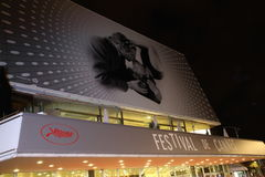 Atmosphere Palais des Festivals Royalty Free Stock Photo