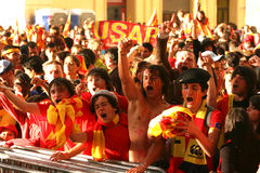 Atmosphere in Perpignan during the final of top 14 Stock Photos