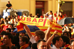 Atmosphere in Perpignan during the final of top 14 Royalty Free Stock Photography