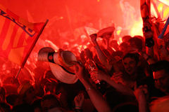 Atmosphere in Perpignan during the final of top 14 Stock Photo