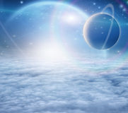 Atmosphere and planets. High Resolution Atmosphere and planets royalty free illustration