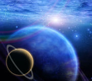 Atmosphere and planets Royalty Free Stock Images
