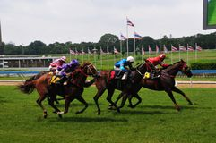 Atmosphere of Royal Turf Club of Thailand under Royal Patronage The horse race is the last day stock image