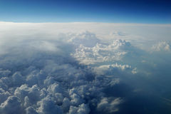 Atmosphere. In the sky. Sky from above Royalty Free Stock Images