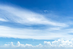 Atmosphere in sunny day with blue sky and white clouds Stock Image