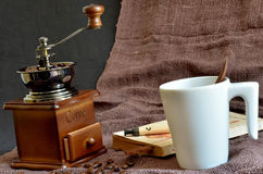 Atmosphere to brew fresh coffee royalty free stock photography