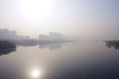 Atmospheric air pollution Stock Image