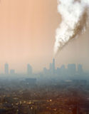 Atmospheric air pollution from factory Stock Image