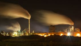 Atmospheric Air Pollution From Industrial Smoke Stock Photo