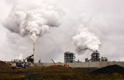 Atmospheric Air Pollution From Industrial Smoke Now. Royalty Free Stock Photography