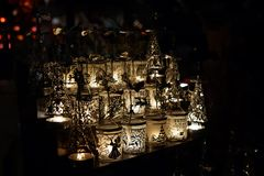 Christmas market in Cologne. Atmospheric candle holders at the Christmas market in Cologne Stock Photography