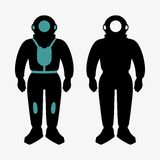 Atmospheric diving suit Royalty Free Stock Photos