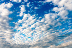 Atmospheric fluffy clouds. Full image of atmospheric fluffy clouds, ideal for a background Royalty Free Stock Image