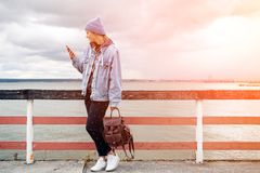 Atmospheric lifestyle photo woman stock photography