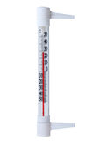 Atmospheric plastic thermometer. Royalty Free Stock Images