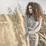 Atmospheric portrait of beautiful young lady Royalty Free Stock Photos