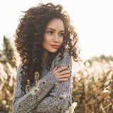 Atmospheric portrait of beautiful young lady Stock Image
