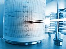 Atmospheric pressure graph, barograph Royalty Free Stock Photo