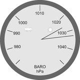 Atmospheric pressures. Illustration of instrument to measure the atmospheric pressures Royalty Free Stock Images
