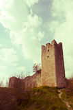 Atmospheric ruins of the medieval castle stock photography