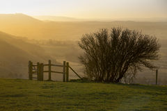 Sundown on South Downs Royalty Free Stock Photography