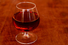 Atmospheric series IV. Cognac glas - beautiful warm atmosphere Stock Photography