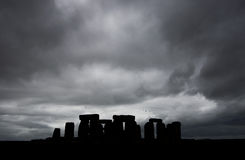 Atmospheric Stonehenge. Silhouetted stonehenge against an atmospheric sky Stock Photography